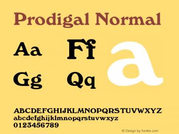 Prodigal Normal Version 001.000 Font Sample