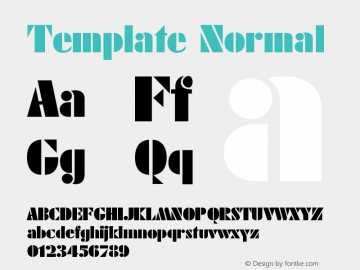 Template Normal Version 001.000图片样张