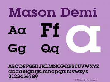 Mason Demi Version 001.000 Font Sample