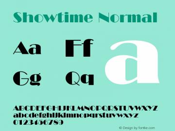 Showtime Normal Version 001.000 Font Sample