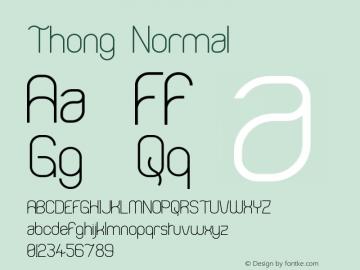 Thong Normal Version 001.000 Font Sample