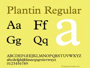 Plantin Regular Version 2 Font Sample