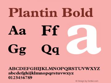 Plantin Bold Version 2 Font Sample