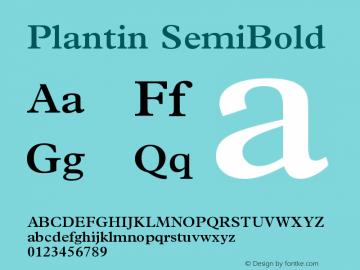 Plantin SemiBold Version 1 Font Sample