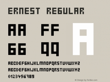Ernest Regular 001.000 Font Sample