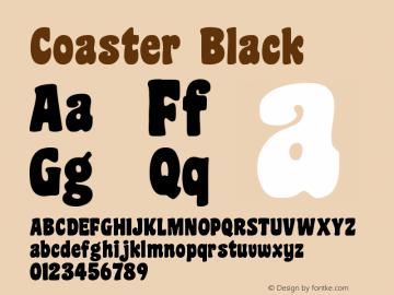 Coaster Black Version 001.000 Font Sample