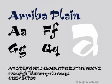 Arriba Plain Version 1.0 Font Sample