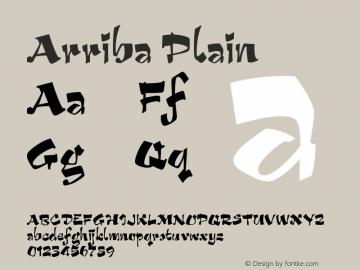 Arriba Plain Version 001.000 Font Sample