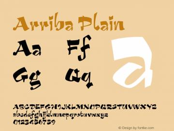 Arriba Plain Version 005.000 Font Sample