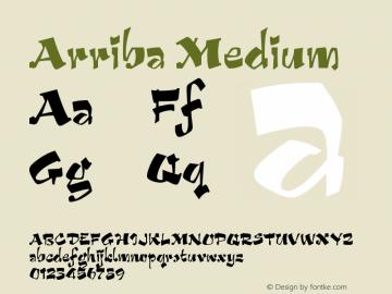 Arriba Medium Version 001.000 Font Sample