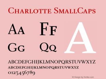 Charlotte SmallCaps Macromedia Fontographer 4.1 5/22/01 Font Sample