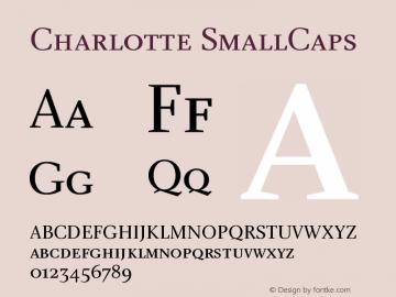 Charlotte SmallCaps Version 1.0 Font Sample
