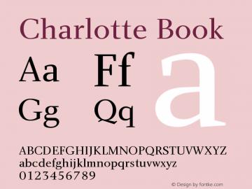 Charlotte Book Version 1.0 Font Sample