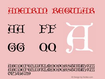 Aneirin Regular Version 001.034 Font Sample