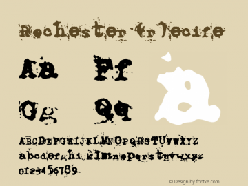 Rochester (r)ecife Named after a great friend! Font Sample