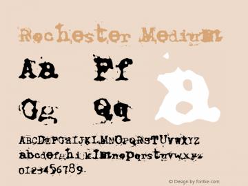 Rochester Medium Version 001.000 Font Sample