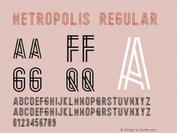 Metropolis Regular Unknown Font Sample