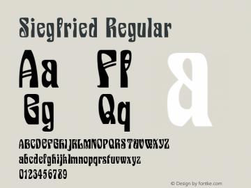 Siegfried Regular Version 001.002 Font Sample