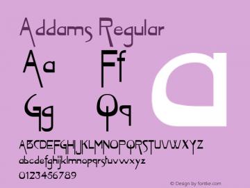 Addams Regular Unknown Font Sample