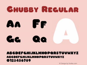 Chubby Regular The IMSI MasterFonts Collection, tm 1995, 1996 IMSI (International Microcomputer Software Inc.) Font Sample