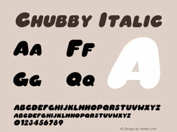 Chubby Italic Macromedia Fontographer 4.1 6/29/96图片样张