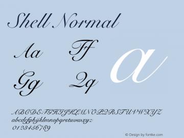 Shell Normal 1.0 Thu Jun 22 11:19:22 1995 Font Sample