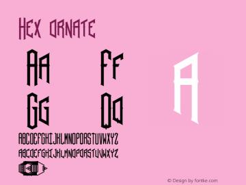 Hex ornate Version 001.000 Font Sample