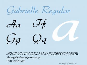 Gabrielle Regular 001.002 Font Sample