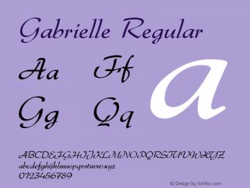 Gabrielle Regular 1.2 Font Sample