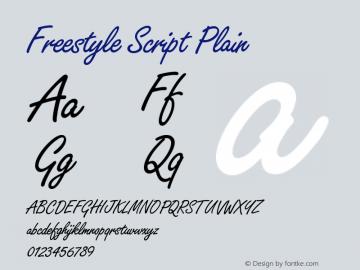 Freestyle Script Plain Version 005.000 Font Sample