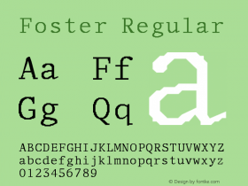 Foster Regular Unknown Font Sample
