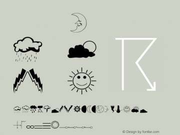Weather Normal Version 001.003 Font Sample