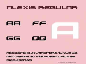 Alexis Regular Version 3.0; 2013 Font Sample