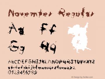 November Regular Macromedia Fontographer 4.1.5 31/10/01 Font Sample