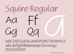 Squire Regular Version 001.001 Font Sample