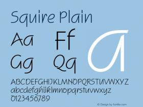 Squire Plain Version 005.000 Font Sample