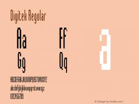 Digitek Regular Version 001.001 Font Sample