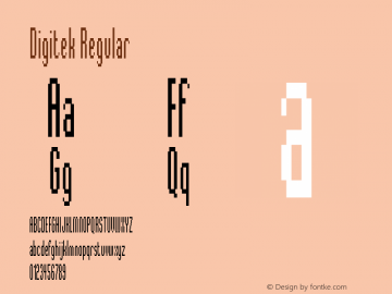 Digitek Regular Version 001.001 Font Sample