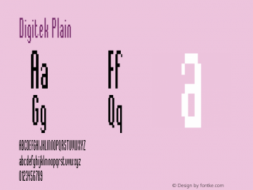 Digitek Plain Version 005.000 Font Sample