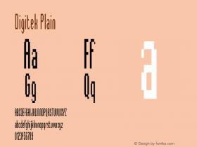 Digitek Plain Version 1.0 Font Sample