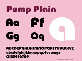 Pump Plain Version 1.0 Font Sample