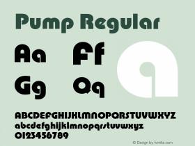 Pump Regular Version 1.0 Font Sample