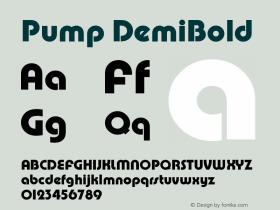 Pump DemiBold Version 1.0 Font Sample