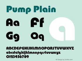 Pump Plain Version 005.000 Font Sample