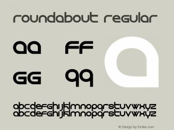 roundabout Regular 001.000 Font Sample