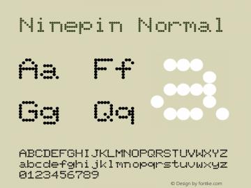 Ninepin Normal Altsys Fontographer 4.1 11/6/95 Font Sample