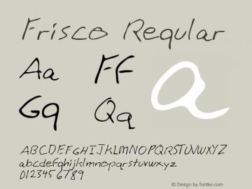 Frisco Regular Altsys Metamorphosis:4/17/95 Font Sample