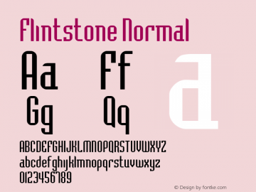 Flintstone Normal Altsys Fontographer 4.1 2/1/95 Font Sample