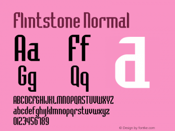 Flintstone Normal Altsys Fontographer 4.1 5/8/96 Font Sample