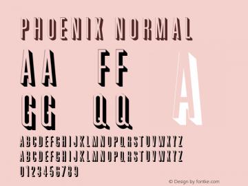 Phoenix Normal 1.0 Tue Jun 20 18:56:10 1995 Font Sample